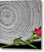 Black And White And Red All Over Metal Print