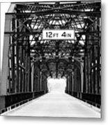 Black And White Bridge Metal Print