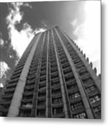 Black And White Brutalist Barbican Metal Print