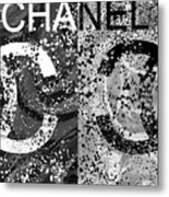 Black And White Chanel Art Metal Print