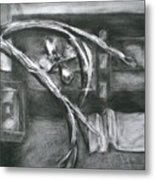 Black And White Composition II Metal Print