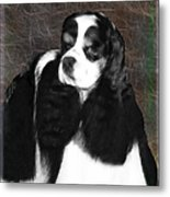Black And White Cookie Metal Print