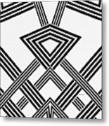 Black And White Diamond Metal Print
