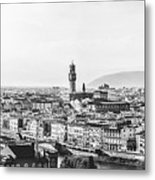Black And White Florence Italy Metal Print