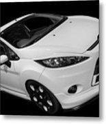 Black And White Ford Fiesta Metal Print