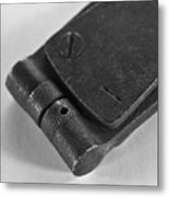 Black And White Handheld Holepunch Metal Print