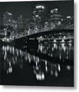 Black And White Lights Metal Print
