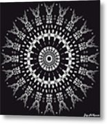 Black And White Mandala No. 1 Metal Print