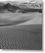 Black And White Mesquite Sand Dunes Metal Print