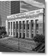Black And White Of The Tennessee Supreme Court Building In Nashville Tennessee Metal Print