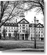 Black And White - Old Main - Widener University Metal Print