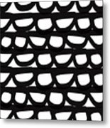 Black And White Pebbles- Art By Linda Woods Metal Print
