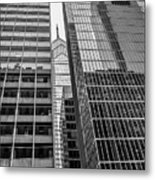 Black And White Philadelphia - Skyscraper Reflections Metal Print