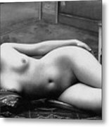 Black And White Photo Of Female Erotic Nude Metal Print