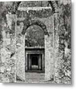 Black And White Photograph Beaufort Historic Church - Chapel Of The Ease Metal Print
