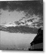 Black And White Pre-sunrise On Daytona Beach Pier  002 Metal Print