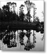 Black And White Reflected Metal Print