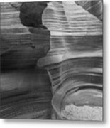 Black And White Sandstone Art Metal Print