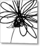 Black And White Sketch Flower 4- Art By Linda Woods Metal Print