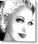 Black And White Smile Metal Print