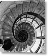 Black And White Spiral Metal Print