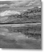 Black And White Talbot Lake Sunset Metal Print