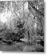 Black And White Tranquility Metal Print