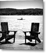 Black And White View Metal Print