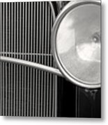 Black And White Vintage Car Abstract 1 - Natalie Kinnear Photogr Metal Print