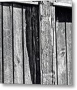 Black And White Wood Texture Metal Print