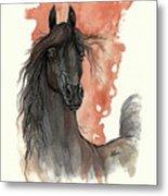 Black Arabian Horse 2013 11 13 Metal Print