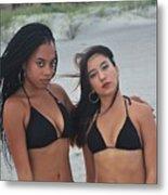 Black Bikinis 2 Metal Print