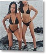 Black Bikinis 4 Metal Print