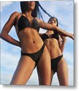 Black Bikinis 66 Metal Print