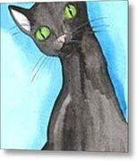 Black Cat Magic Metal Print