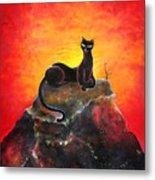 Black Cat. Mistress Of Diamond Mountain Metal Print