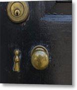 Black Door Metal Print