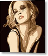 Black Dress Metal Print by Tanya Byrd