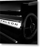 Black Falcon Metal Print