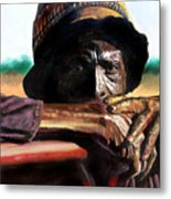 Black Farmer Metal Print