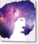 Black Girl Magic Lavender Metal Print