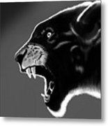 Black Glow Tiger Metal Print