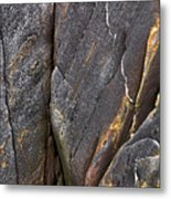 Black Granite Abstract Two Metal Print