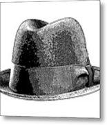 Black Hat T-shirt Metal Print