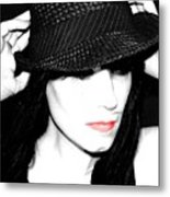 Black Hat Metal Print