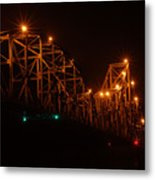 Black Hawk At Night 2 Metal Print