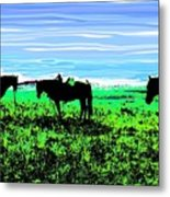 Black Horses ... Montana Art Photo Metal Print