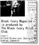 Black Ivory Issue 1 Page 2 Metal Print