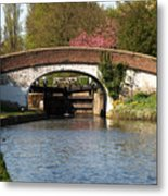 Black Jacks Bridge And Lock Metal Print
