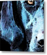 Black Labrador Retriever Dog Art - Hunter Metal Print by Sharon Cummings